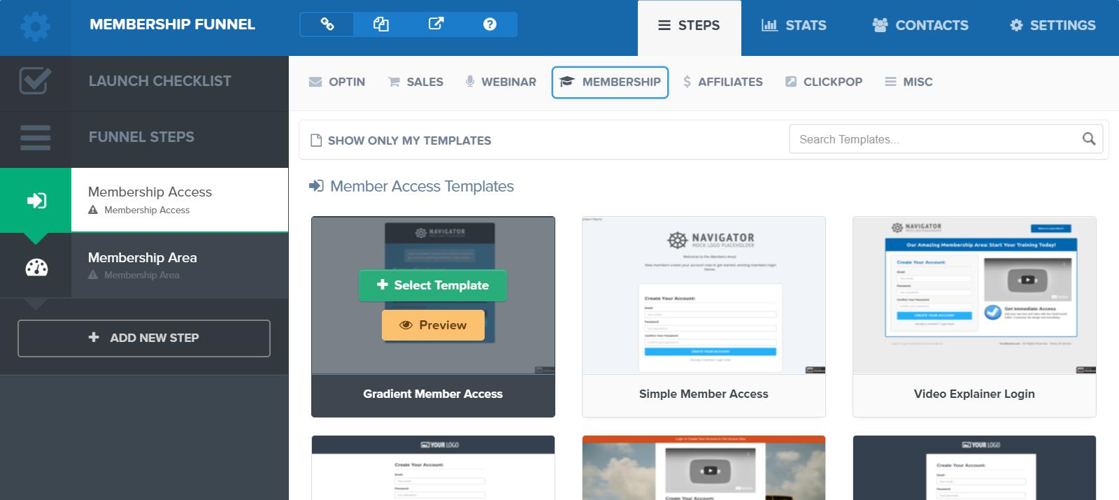 Clickfunnels membership sites