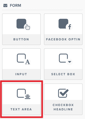 Text Area Element – ClickFunnels